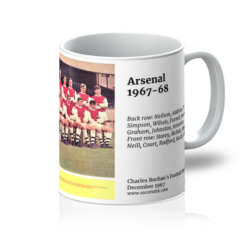 1967-12 Arsenal Team 1967-68 Mug