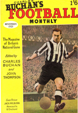 1951-11 Jackie Milburn, Newcastle, Nov 51 Front Cover Poster