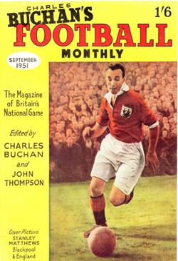 1951-09 Stanley Matthews, Blackpool, Sep 51 Front Cover Poster