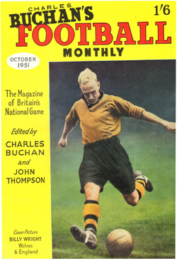 1951-10 Billy Wright, Wolves, Oct 51 Front Cover Poster