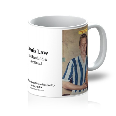 1959-01 Denis Law, Huddersfield, Jan 59 Mug