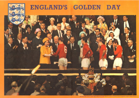 1966-10 England 1966 World Cup Queen Presents Cup Poster