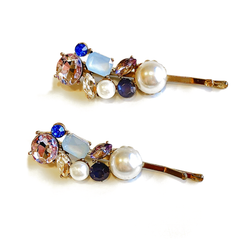 Stone and Pearl Hair Pins