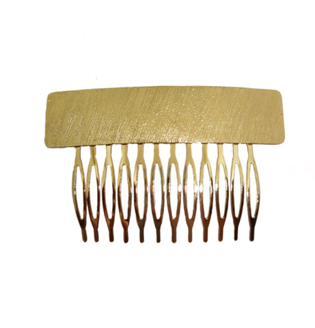 Textured Hair Comb Gold