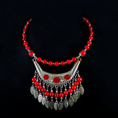 Bead and Silver Necklace