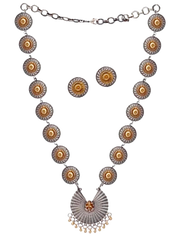 Two Tone Tribal Necklace Set