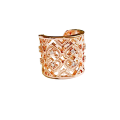 Rose Gold and Stone Open Ring
