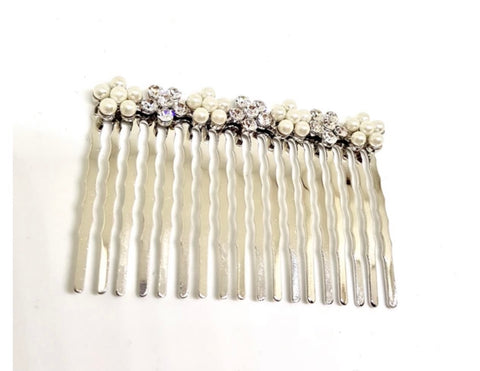 Pearl and stone hair comb