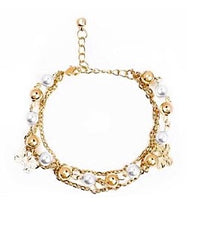 Pearl & Gold Anklets