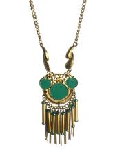 Enamel and Metal Necklace