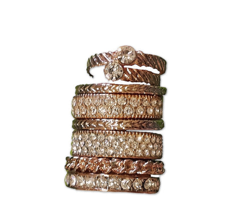 Rose Gold and Stone Stack of Rings