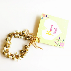 Bead and Pearl Bracelet