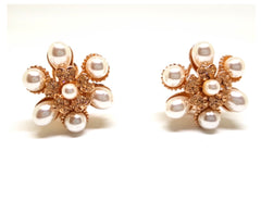 Rose Gold Pearl studs