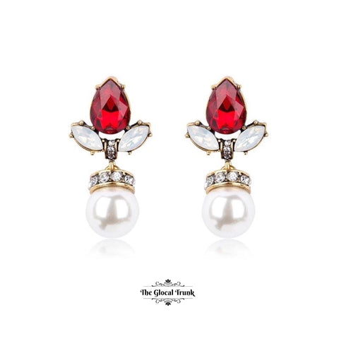 https://www.theglocaltrunk.com/products/anastasia-pearl-drop-crystal-stud-earring-red