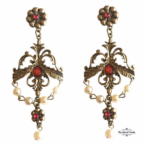 https://www.theglocaltrunk.com/products/chandelier-petal-stone-earrings