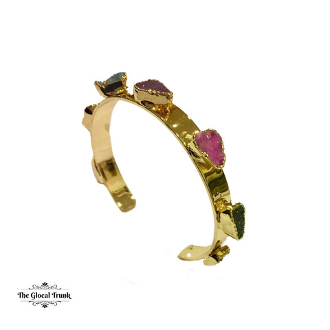 https://www.theglocaltrunk.com/products/rough-druzy-gold-plated-multi-coloured-cuff