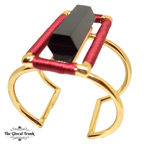 https://www.theglocaltrunk.com/products/stark-red-silk-and-stone-hollow-stiff-cuff