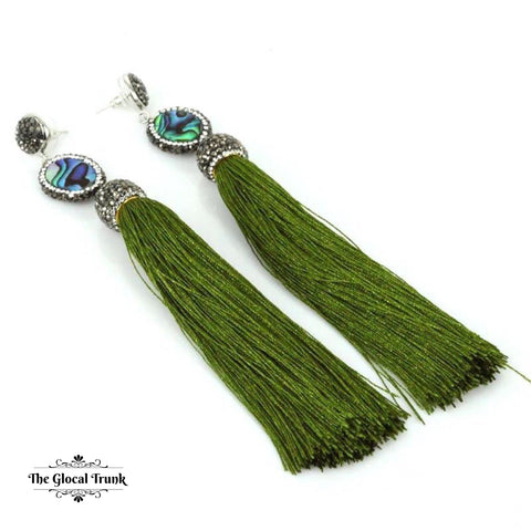https://www.theglocaltrunk.com/products/diva-diva-paved-long-silk-tassel-earrings