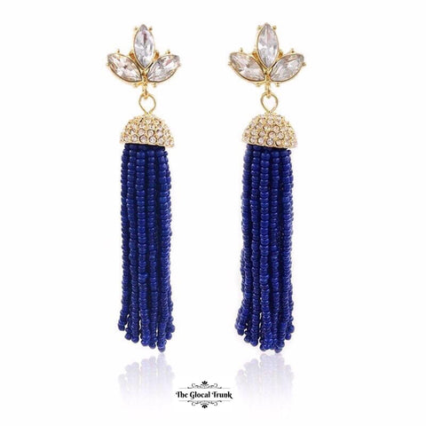 https://www.theglocaltrunk.com/products/lady-beaded-tassel-and-crystal-earrings-blue