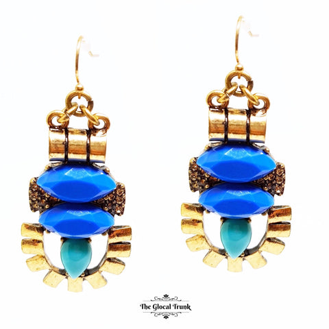 https://www.theglocaltrunk.com/products/quirk-blue-and-stone-hook-dangler-earrings
