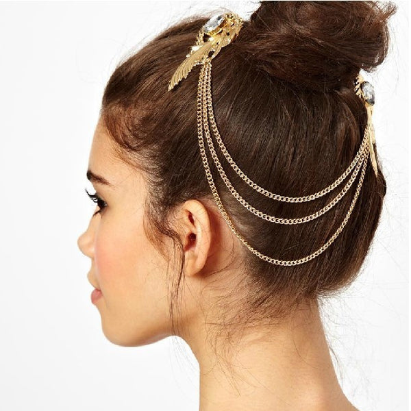 ACCENTED FEATHER HAIR ACCESSORY