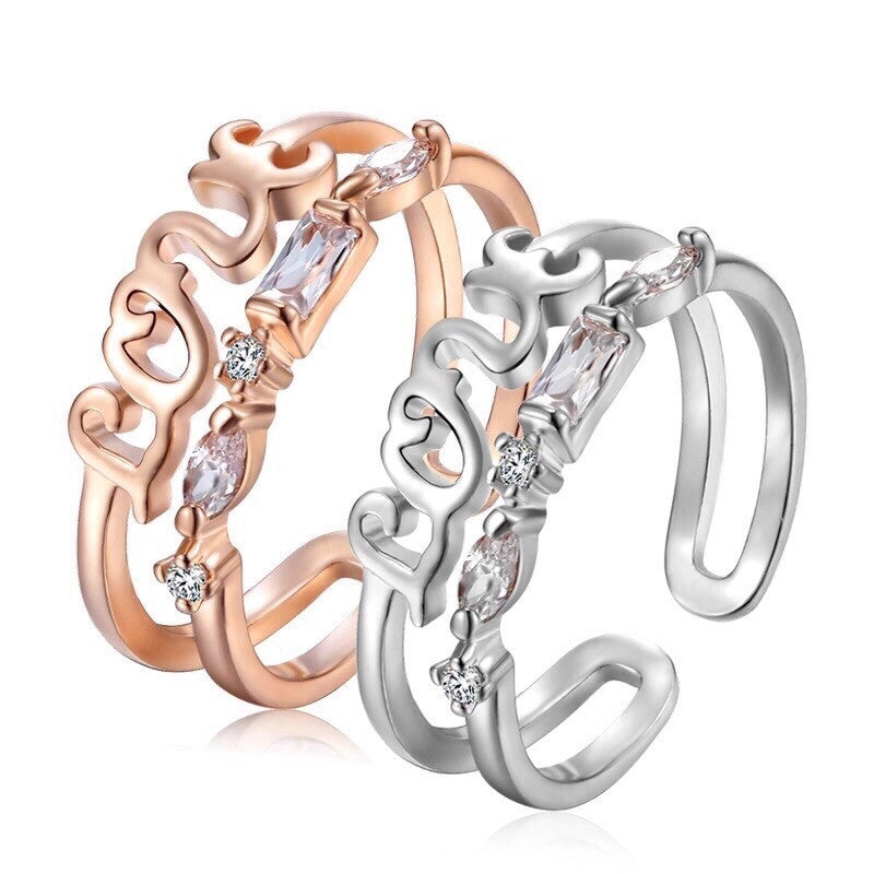 BUY AMOUR LIL FINGER RING ROSE GOLD/ WHITE ONLINE – The Glocal Trunk