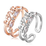 Amour Lil Finger Ring Rose Gold/ White