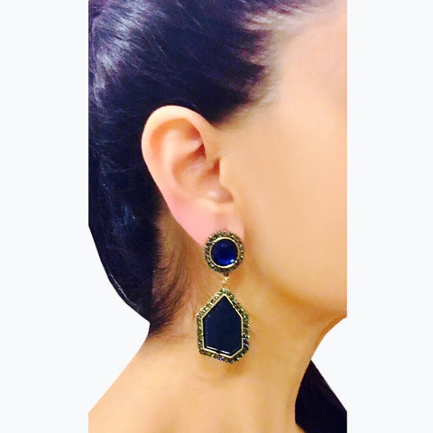 Azure Stone Dangler Earrings