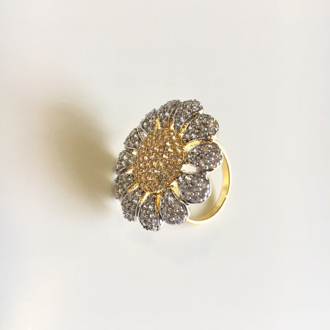 Ballerine Adjustable Crystal Ring