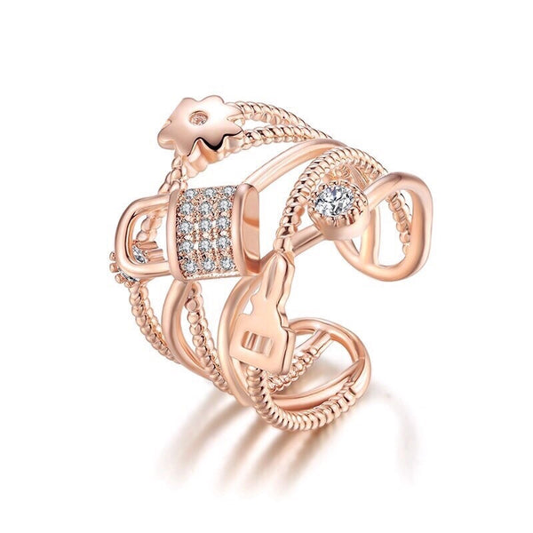 Beatrice Open Ring Rose Gold