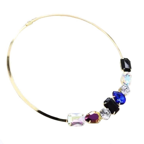 BEJEWELLED MULTISTONE COLLAR NECKLACE
