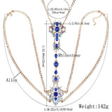 Bejewelled Body Jewellery - Blue
