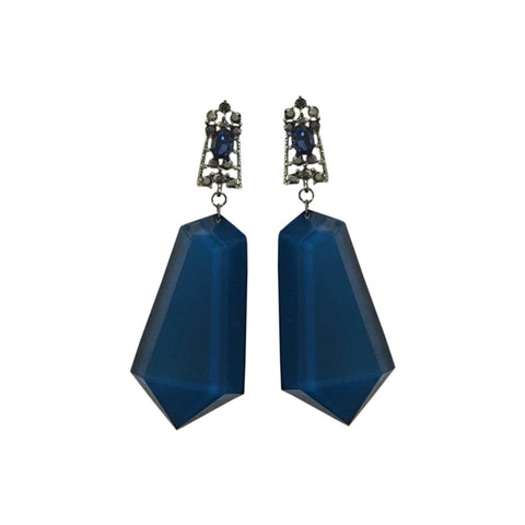 Blue Mosaic Glass Finish Danglers