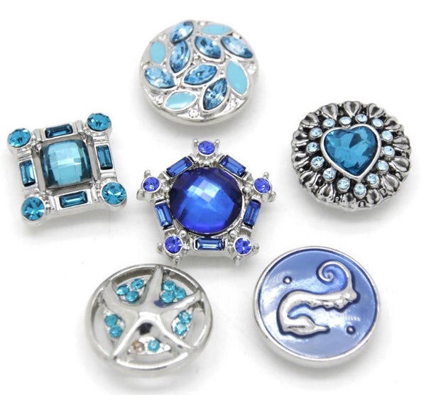 BLUE STORM SET OF 6 BUTTONS