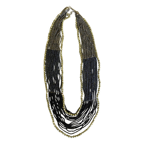 Bohemian Beaded Necklace - Mono