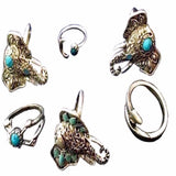 Boheminan In Me Set Of 5 Rings