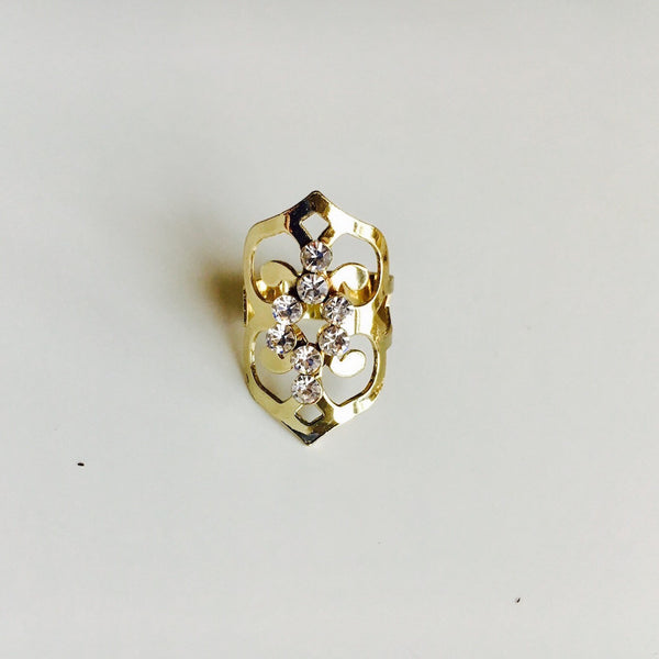 Cascade Baroque Gold Ring