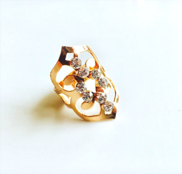 Cascade Baroque Rose Gold Ring