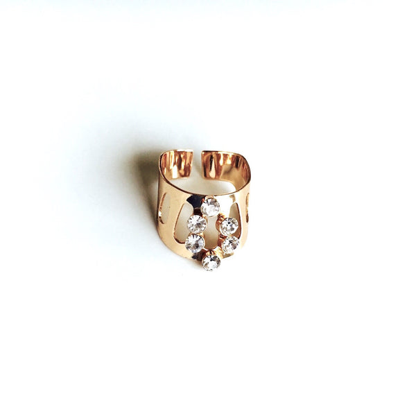 Cascade Pool Rose Gold Ring