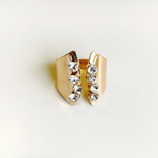 Cascade Riviera Rose Gold Ring