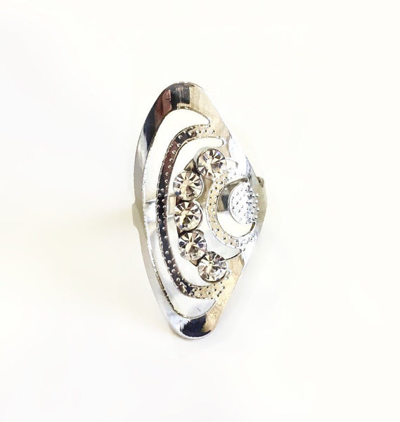 Cascade Scallop Rose Gold Fringer Ring