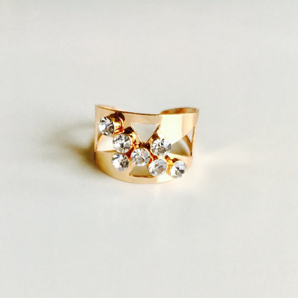 Cascade Symbol Gold Ring
