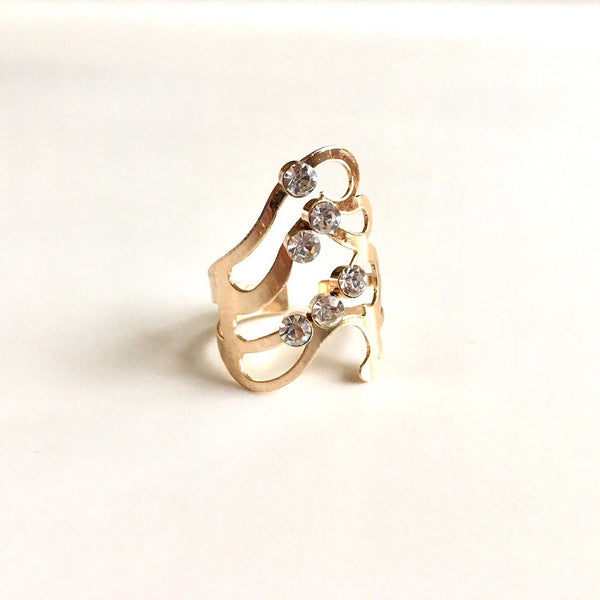 Cascade Wave Gold Ring