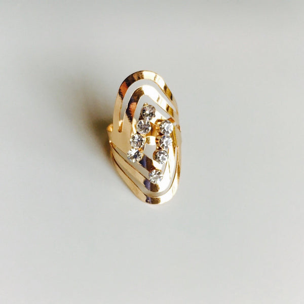 Cascade Whirl Rose Gold Ring