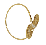 CIRCLE ACCENTED METAL ARMLET ARMBAND GOLD