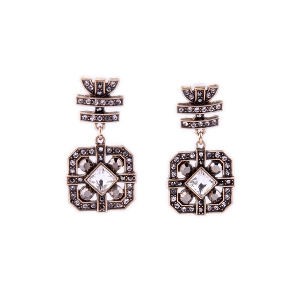 COCKTAIL CRYSTAL VINTAGE EARRINGS