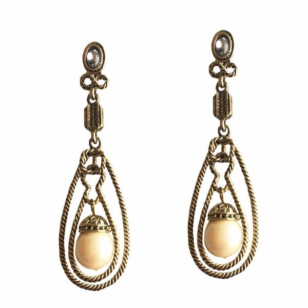 CURVES DROP DANGLER EARRING
