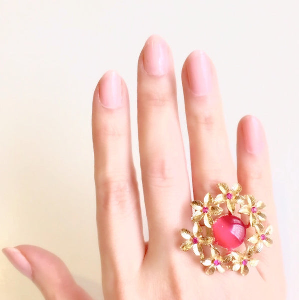 Debutante Finger Ring Red