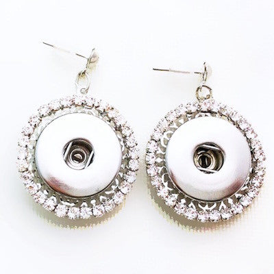 BUTTON DROP CRYSTAL EARRINGS