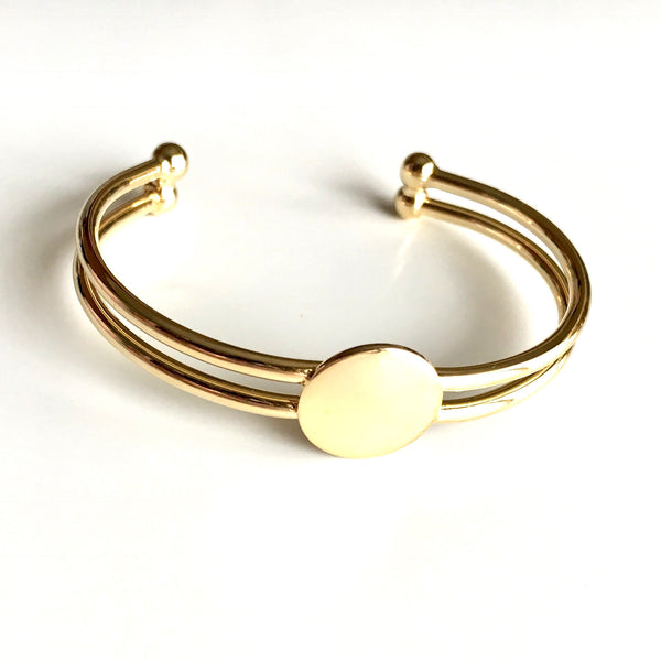 Earnest Shield Open Bracelet